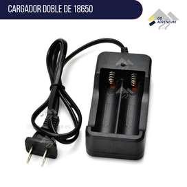 Cargador doble de baterías pilas 18650