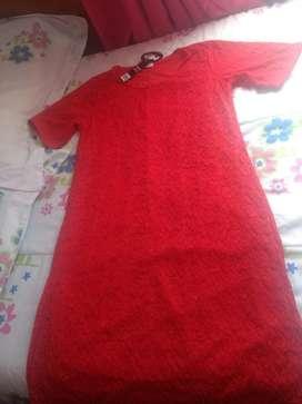 Hermoso Vestido Color Rojo