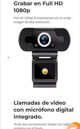Cámara web full HD 1080 micrófono para zoon video llamada