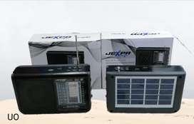 Radio con panel solar