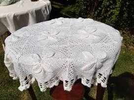 Manta blanca Bebé artesanal