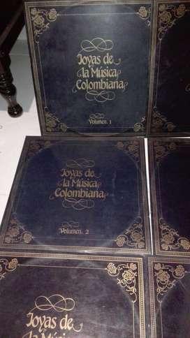 DISCOS DE VINILO COLECCIÓN JOYAS DE LA MÚSICA COLOMBIANA 10 LPS EN PERFECTO ESTADO VALOR $200.000