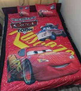 Edredón Cars Ovejero cama sencilla,