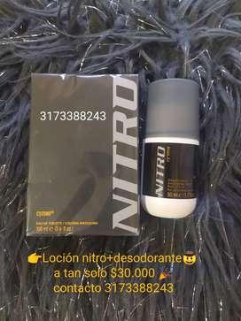 Loción nitro +desodorantes $30.000 sola $25.00