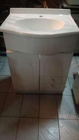 Vanitory Mueble Baño Bacha 2 Puertas