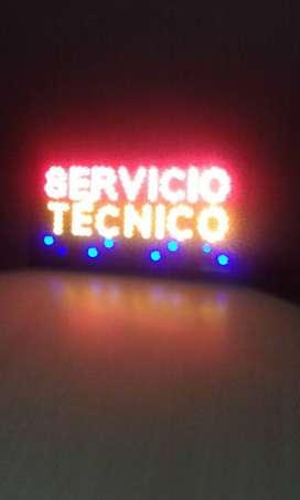 "Rotulo LED de ""Servicio técnico"""