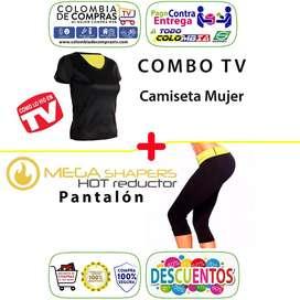 Combo Hot Tv Camiseta Mujer Pantalón Mega Shapers, Nuevos, Originales, Garantizados
