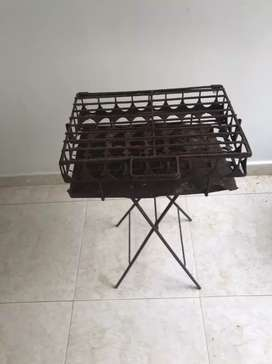 Asador metalico de carbon