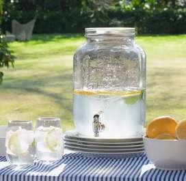 Dispenser frasco de vidrio 8 Litros