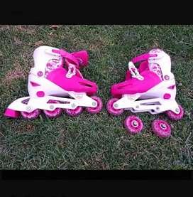 Rollers rosa de plástico