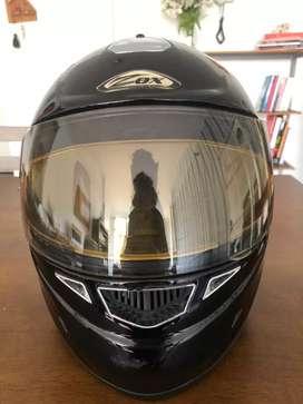 Casco para moto, talla M, ZOX modelo Corsar, color negro