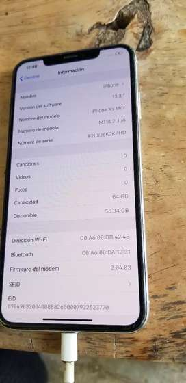 Iphone xs max de 64 gb con detalle