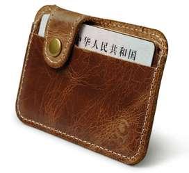 Billetera cuero, porta documentos.