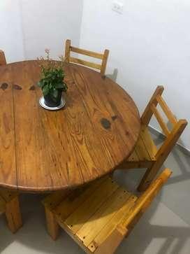 USADO, comedor de 4 puestos en madera