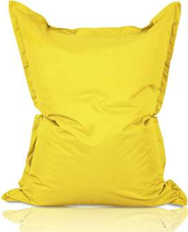 Puff Cojín Gigante Amarillo