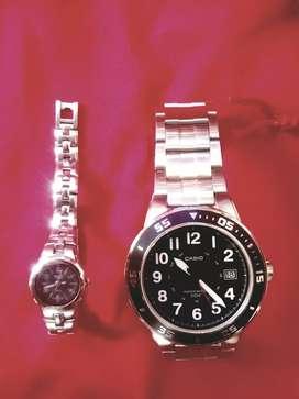 Relojes dama y caballero  los dos juntos