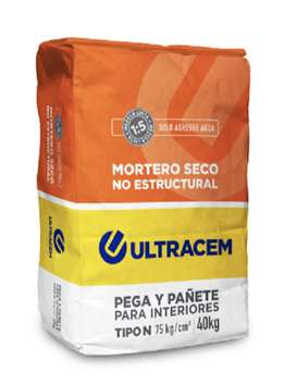 Mortero Seco No Estructural Tipo N  40 kilos ULTRACEM
