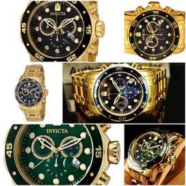 Relojes Invicta 0072 Dorado Nuevos En Caja
