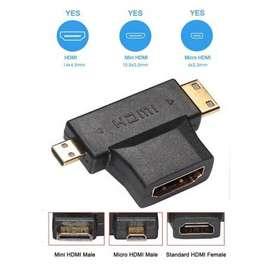 CONVERSOR HDMI A MINI Y MICRO HDMI