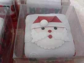 Tortas minitortas y cupcakes navideños