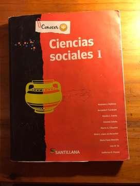 Libro Ciencias sociales 1. Conocer mas Santillana