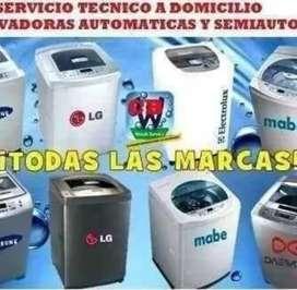 Reparación y mantenimiento de lavadoras secadoras refrigeradoras microondas licuadoras a domicilio