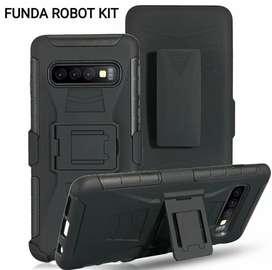 Case Robot Samsung S8/ S8 Plus/ S9/ S9 Plus/ S10/ S10 Plus/ A10/ A20/ A30/ A50/ A70/ A80/ J4/ J6/ J8 Case anticaidas