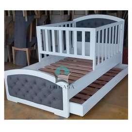 Hermosa cama cuna en cedro