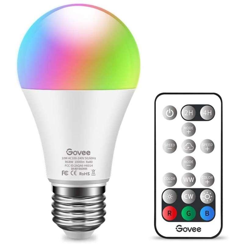 Bombilla LED RGB con Mando a Distancia 10 W