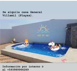 Casa en Alquiler - Gral. Villamil Playas