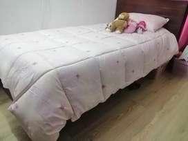 Cama 200x110cm para colchón de 190x100