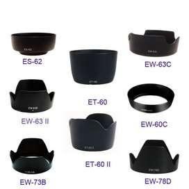 Parasoles para Lente Canon Nikon Varios desde 18 soles