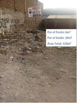 TERRENO DE 120M2 EN VENTA / URB. SAN ANTONIO DE CARAPONGO