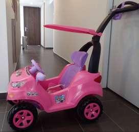 Carrito montable paseador push car adventure rosa prinsel - Usado