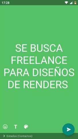 Se busca freelance para diseñar renders