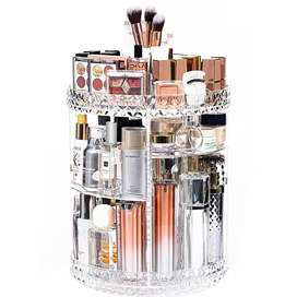 caja de almacenamiento de cosméticos giratoria 360