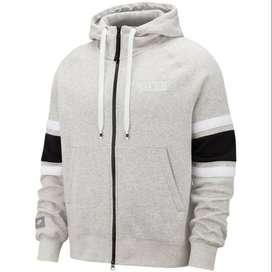 Casaca Sudadera Nike Air Full-zip Fleece Hoodie Grey 2020 Cod Bv5149
