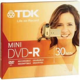 Mini Dvd-r Grabable Vírgen Tdk 30 Min Blister Cerrado