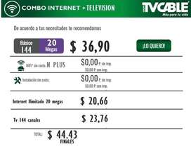 Internet, tv cable y telefonia