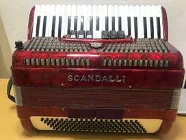 ACORDEON SCANDALLI 120 ITALIANA AFINADA ORIGINAL
