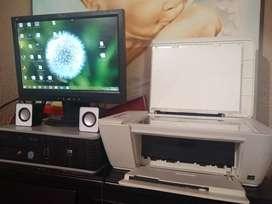 Combo computador de escritorio más impresora hp