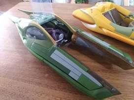STAR WARS - naves - Aerodeslizador multientorros Koro-2 de la cazarecompensas Zam Wesell - 10 y aerodeslizador de anakin