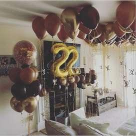 Arreglos sorpresas de habitaciones para cumpleaños, aniversarios