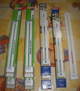 LAMPARAS DE 36 W, LUZ CALIDA 830 Y LUZ BLANCA 840, OSRAM , G ELECTRIC,
