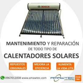 Mantenimiento y reparación de calentadores solares