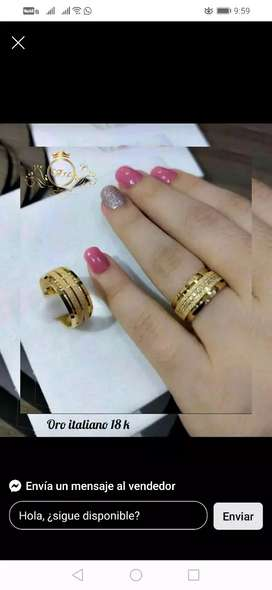 argollas de matrimonio en oro 18k garantizado