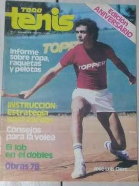 Revista Todo Tenis Año I I Num.13 Septiembre 1978 J.L.Clerc