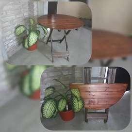 Mesas y sillas plegables