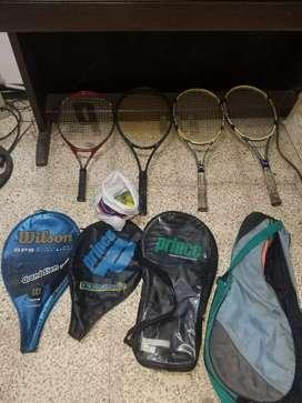 Vendo raquetas de tenni y regalo sus forros y pelotas