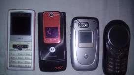 Lote de celulares vintaje